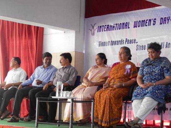 Dignataries Present for the celebration of International Women's Day Rally